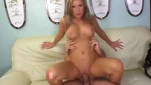 Busty Blonde Milf Honey Fucked On The Couch