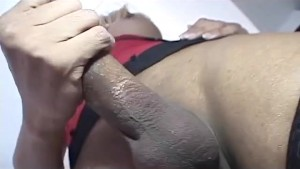 Tranny with Huge Uncut Cock Ass Fucks a Bitch
