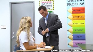 InnocentHigh Blonde schoolgirl Cameron Dee fucks teacher