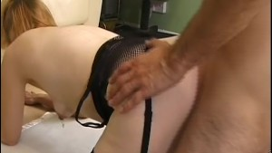 Skinny housewife in stockings gets fucked