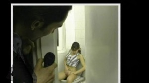 In the bathroom waiting for him - Julia Reaves