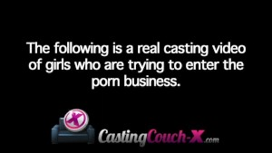 CastingCouch-X 19yo first timer fucks good.