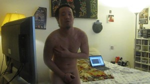 yes yes 12 inch man jacks off and sucks his own cock