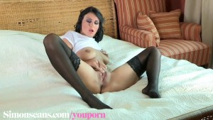 Roxy and a double ended dildo