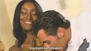 BlackLust Cashmere begs for a big white cock