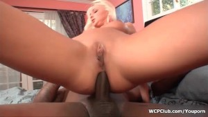 Dirty blonde whore gets her ass fucked hard and deep