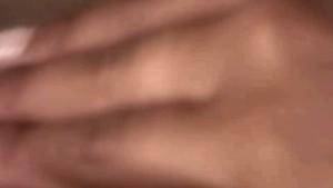 Ebony slut masturbating using huge dildo