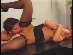 Italian Secretary Creampied By Boss - Pink'O