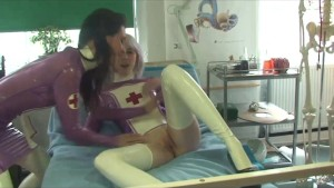 Two Latex Nurses Get it On
