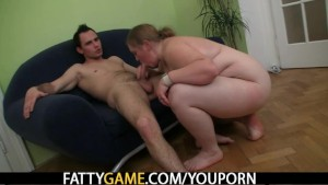 Hot sex with a lusty BBW that craves him