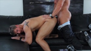 GayCastings Macho Muscular Texas Bartender Logan