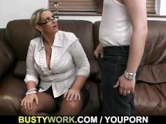 Fat salesgirl is boned from behind