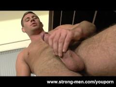 Muscle Hunk Rick Bauer Masturbation