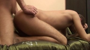 Gay Couple Bareback Creampie