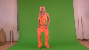 Add Your Own Background: Babe Stripping On Green Screen - Julia Reaves