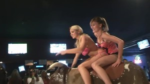 Some Hotties Try Riding The Bull - DreamGirls
