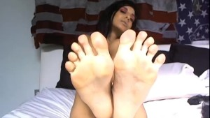 Busty Mature Babe Sucking Toes