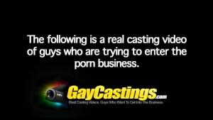 GayCastings Virginia GoGo is a dirty talkin' pig bottom