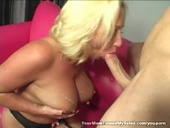 Cougar Joanna Seduces Young Man