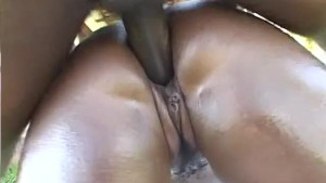 Big booty babe banged in back yard - Third World Media