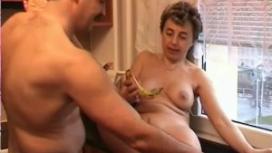 Mature Anna Fucked in the Kitchen - Dr. Moretwat's