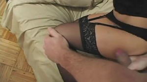 Babe Gets Cum All Over Her Pantyhose - Mavenhouse