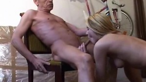 Old grandpa fucking cute blonde