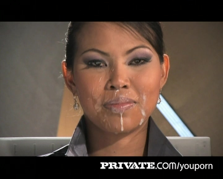 Private Pearls: Asian Sai Tai Tiger in the Pornolympics TV News Bukkake