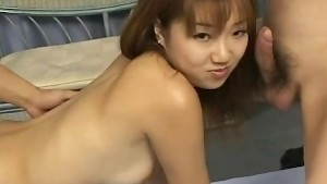 cute japanese Himiko gets facial cumshots