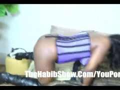 TIa carter giving head and licking nuts and swallows baby sperm