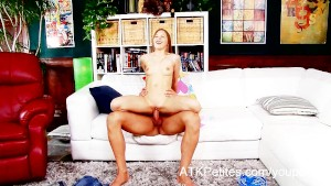 Skinny teen Avril Sun enjoys the fuck