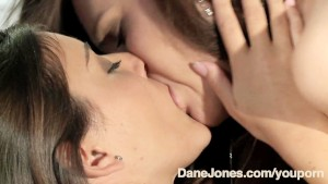 DaneJones Lesbian gives teen sweet female orgasm