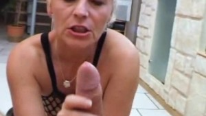 Amateur Milf anal fucking with cum in mouth
