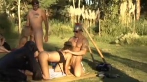 latin outdoor fuck orgy