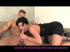 FemaleAgent. Nymphomaniac stripper delights MILF agent
