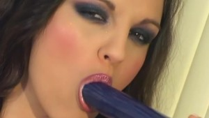 Horny brunette playing with a dildo - Scene 2 - Activ Studio