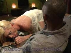 Sucking Morgan Bailey's Rock Hard Cock