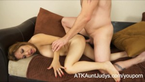 Curvy Latina Milf Marisa has her tits covered with cum