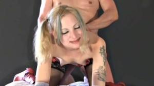 Young amateur GF sucks and fucks with facial cumshot