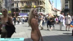 Hot Slim Blonde Naked On Public Streets