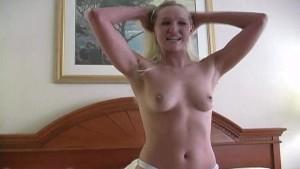 Amateur blonde wife sucking dick POV style vid1