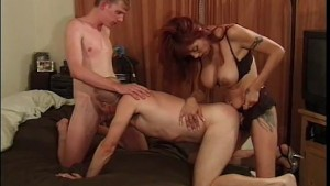 Babe Fucks A Couple Of Guys With A Strap-on - Legend
