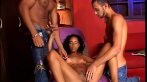 Horny girl and two guys really heat up the room - Heatwave