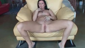 Babe playing with her tight pussy - Acid Rain