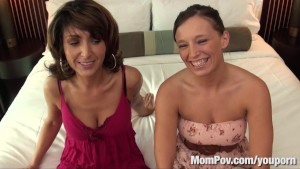 Hot MILF and her young friend get fucked