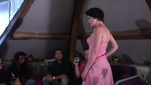 young French dame has asshole screwed