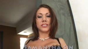 Brunette babe plays with her pussy - Demolition