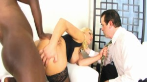 Husband watches his wife get fucked in the ass - Black Market