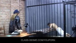 Lucky prisoner fucked by his female guards