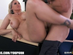 Julia Ann gets a new job and fucks the boss on the first day